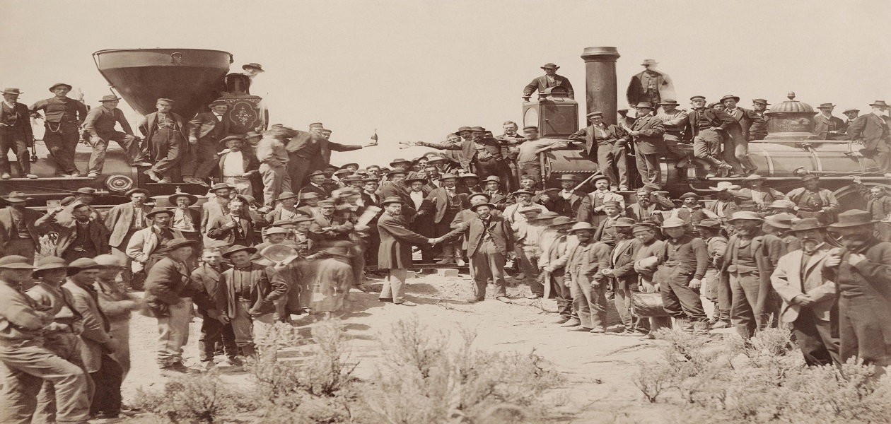 Train workers in old american west